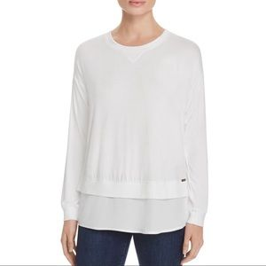 Calvin Klein Layered Split Back Tee